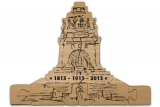 Puzzle monument of the battle of the nations - Embossing black