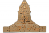 Puzzle monument of the battle of the nations - Embossing bronze